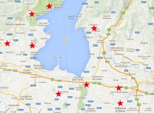 Map of Golf on Garda Lake